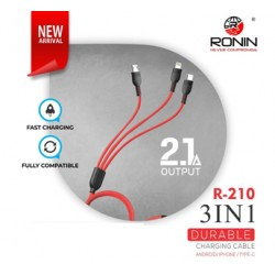 Ronin 3 in 1 2.1A Durable Charging Cable R210