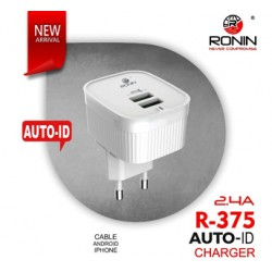 Ronin R-375 Efficient Dual USB Universal Charger 2.4A